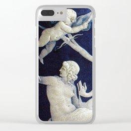 BLUE TEMPTATION Clear iPhone Case