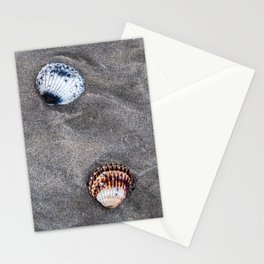 Shells on the sand Stationery Cards