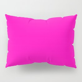 The Future Is Bright Pink - Solid Color - Hot Pink Pillow Sham