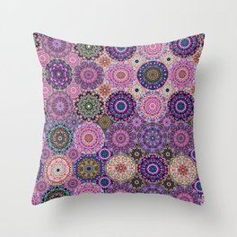 Kaleidoscope of Gems and Jewels Throw Pillow
