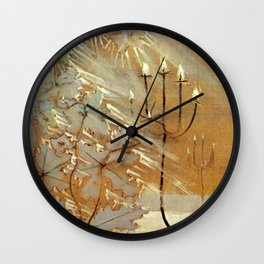 Winter No. 2 (Ziema II) portrait painting by Mikalojus Konstantinas Ciurlionis Wall Clock