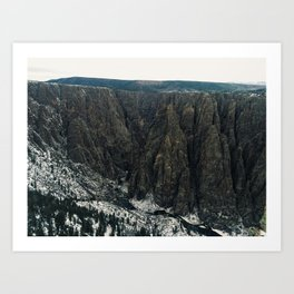 Black canyon Art Print