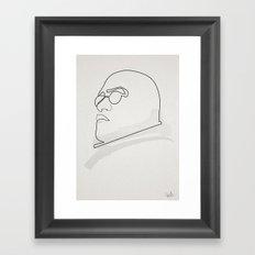 One Line Morpheus Framed Art Print