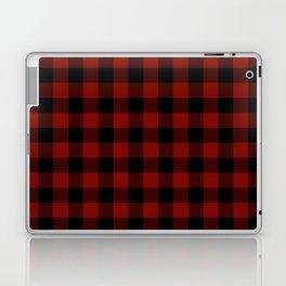 Vintage New England Shaker Large Barn Red Buffalo Check Plaid Laptop & iPad Skin