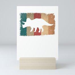 Retro Triceratops Dinosaur Mini Art Print