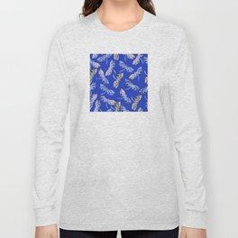 Dragonflies Blue Long Sleeve T-shirt