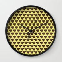 polkadot Wall Clocks featuring Terrier Polkadot by Luke Clark