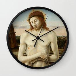 Imago Pietatis by Giovanni Bellini Wall Clock