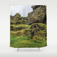 the hobbit Shower Curtains featuring Hobbit House by Alex Tonetti Photography