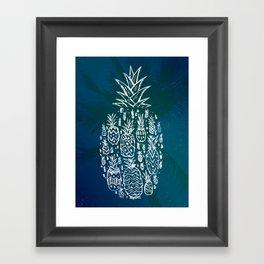 Pineapple Fields Forever Framed Art Print