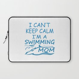 I'M A SWIMMING MOM Laptop Sleeve