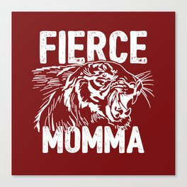 Fierce Momma / Red Canvas Print