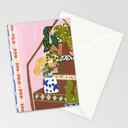 Bohemian stairs Stationery Cards