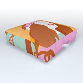 Good Vibes Killing it Girl Outdoor Floor Cushion