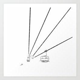 Sky lift Art Print