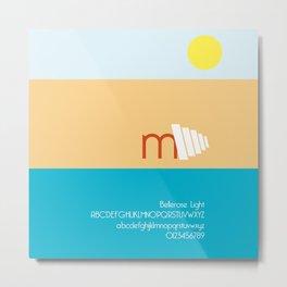 CRAB - FontLove Metal Print