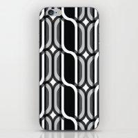 bauhaus iPhone & iPod Skins featuring Bauhaus Type Black and White Art by Addison Barker