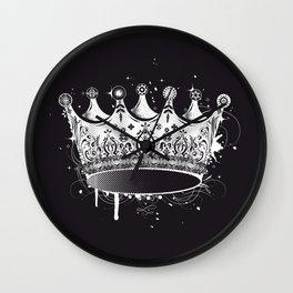 Crown in graffiti style Wall Clock