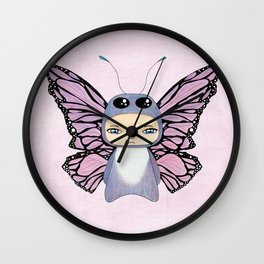A Boy - Butterfly Wall Clock