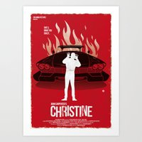 Christine (Red Collection) Art Print