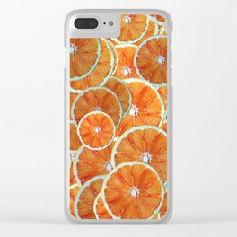 Orange slices arranged atop each other Clear iPhone Case