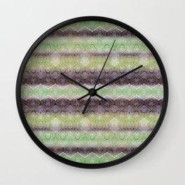 paisley ribbon in lime Wall Clock