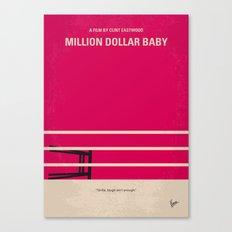 No613 My Million Dollar Baby minimal movie poster Canvas Print