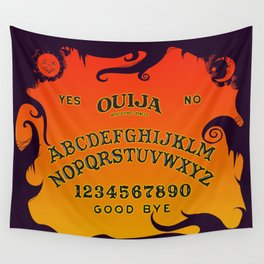 Scary Ouija Board Wall Tapestry