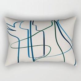 Aeron Line Drawing Portrait Rectangular Pillow