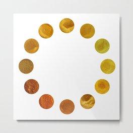 Yellow Pigments Metal Print
