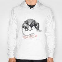rat Hoodies featuring love rat by Jess John