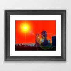 Here comes the Sun! Framed Art Print