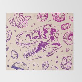 Geo-rex Vortex | Magenta & Purple Ombré Throw Blanket
