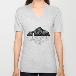 Mountains Bear Unisex V-Neck