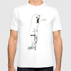 Bicycle. MEDIUM Mens Fitted Tee White
