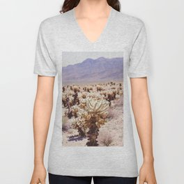 Chollo Cactus Garden - Joshua Tree Unisex V-Neck