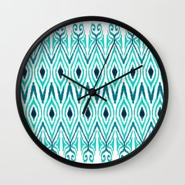 Ikat Jade Wall Clock