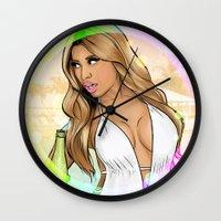 anaconda Wall Clocks featuring Anaconda Oh my gosh by Akyanyme