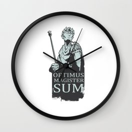 Best Latin Teacher Caesar Wall Clock