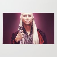 thranduil Area & Throw Rugs featuring Thranduil by tillieke