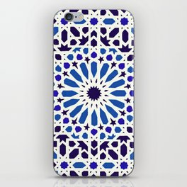 V19 Epic Light Blue Traditional Moroccan Pattern Design . iPhone Skin