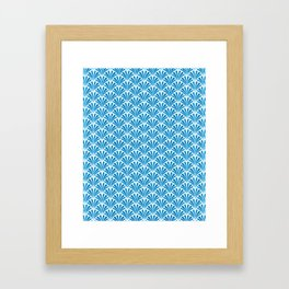 Blue Wave Art Deco Design Framed Art Print