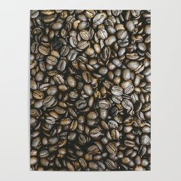 Coffee beans in Colombia Poster