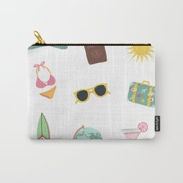 Colorful travel icons  Carry-All Pouch
