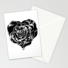 Heart Rose Stationery Cards