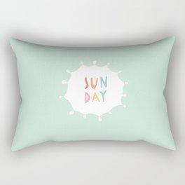 Sunday in Mint Rectangular Pillow