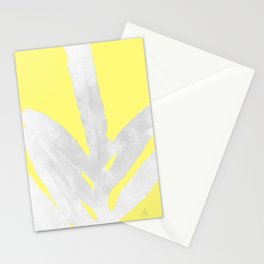 Green Fern on Lemon Yellow Inverted Stationery Cards