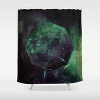 random Shower Curtains featuring Random Octo by Esco