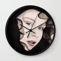 ying yang Wall Clocks featuring Ying Yang by Claire Azzopardi