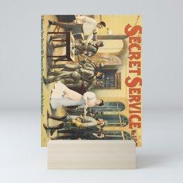 secret service   by wm. gillette. circa 1896  Affiche Mini Art Print
